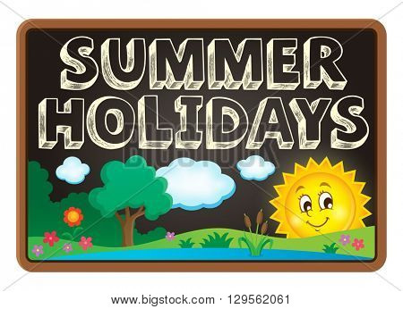 School holidays theme image 2 - eps10 vector illustration.