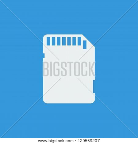 Sd Card Icon In Vector Format. Premium Quality Sd Card Symbol. Web Graphic Sd Card Sign On Blue Back