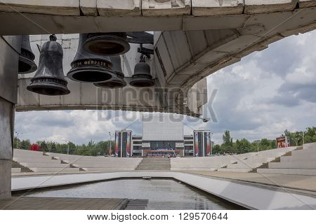 ROSTOV-ON-DONRUSSIA- MAY 11- View of the Gorky Theatre from the memorial stele