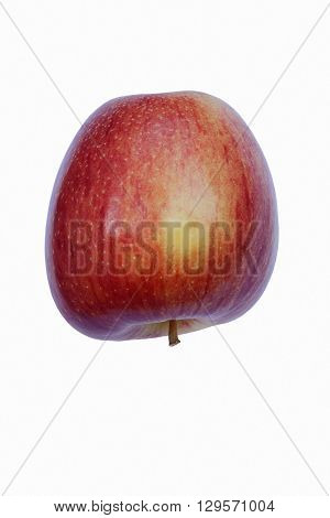 Braeburn apple (Malus domestica Braeburn). Hybrid between Granny Smith apple and Lady Hamilton apple. Image of single apple isolated on white background