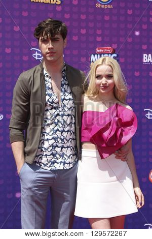 LOS ANGELES - APR 29:  Ryan McCarten, Dove Cameron at the 2016 Radio Disney Music Awards at the Microsoft Theater on April 29, 2016 in Los Angeles, CA
