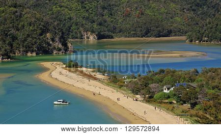 Beach in the Torrent Bay. Abel Tasman National Park New Zealand.
