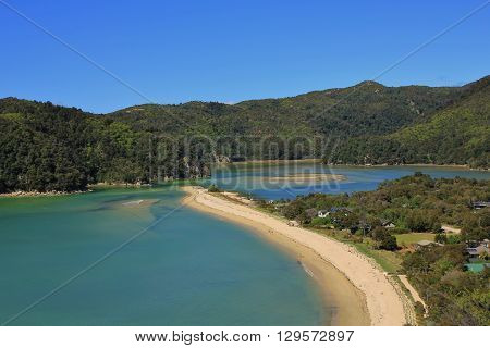Torrent bay. Bay in the Abel Tasman National Park New Zealand.