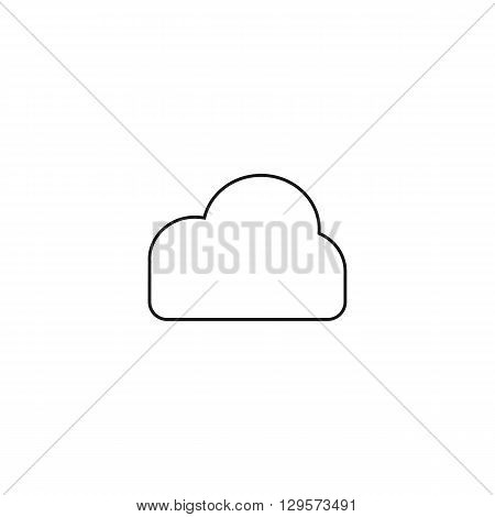 cloud information weather black web icon thin line illustration for mobile app color picture on a white background