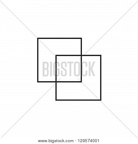 folder and file black web icon thin line illustration for mobile app color picture on a white background