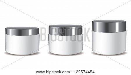 3D Cream Pots