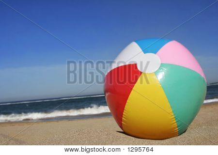 Beachball On Beach