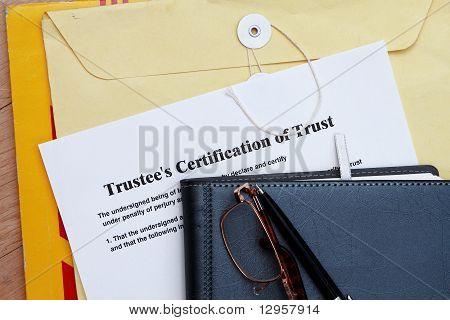 Zertifikat vertrauen