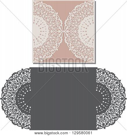 Laser Cut Envelope Template For Invitation Wedding Card1.eps
