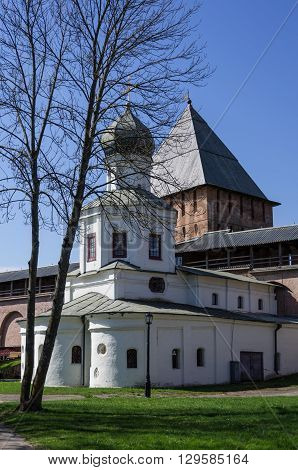 Church Of The Intercession And The Tower Of Intercession Of The Novgorod Kremlin (veliky Novgorod, R