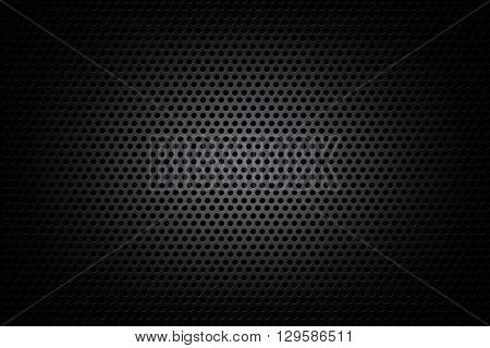 Dark chrome black and gear background texture vector illustration eps10