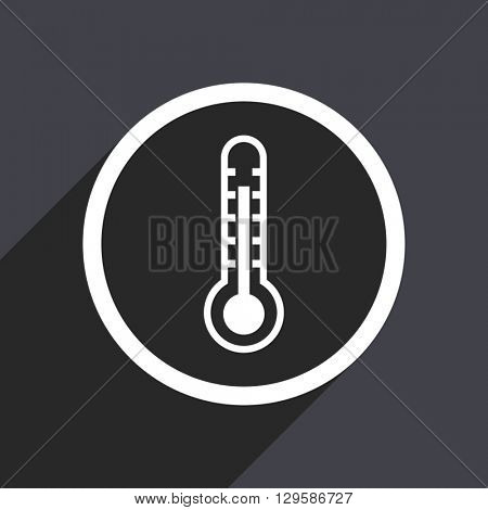 flat design thermometer vector icon