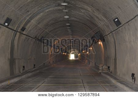 CORREGIDOR PHILIPPINES - APRIL 3 2016: Malinta Tunnel. The tunnel was built by the US Army Corps of Engineers for bomb proof storage and 1000 bed hospital.
