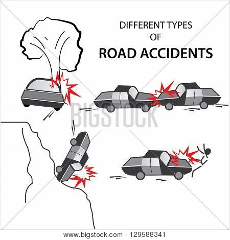 Road accidents occur in different consequences which are shown in the below set of examples.