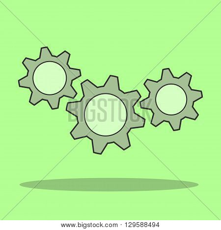 Gear vector logo icon template. Machine progress teamwork logo. Technology and techno shapes. Gear symbol. Teamwork vector logo. Teambuilding concept.