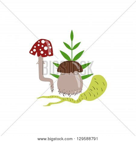 Magic Potion Ingredients Flat Isolated Childish Style Simple Vector Drawing In Bright Colors On White Background