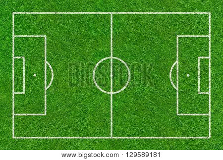 A Football Field Drawn On A Grass Background