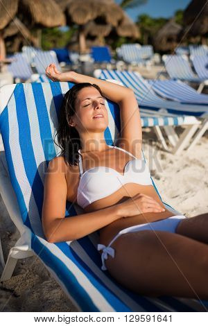 Relaxing Summer Tropical Vacation At The Beach