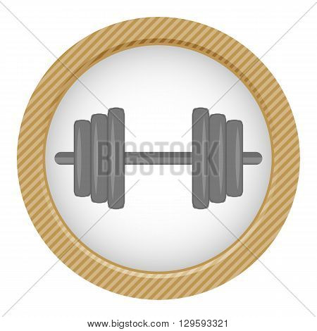 Single dumbbell colorful icon. Vector colorful illustration