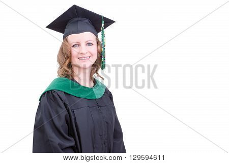 Pretty Middle-aged Academic In Graduation Clothing
