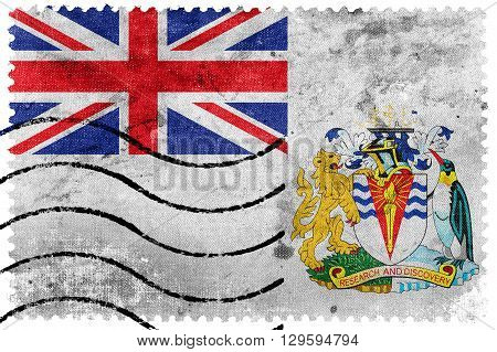 Flag Of The British Antarctic Territory, Old Postage Stamp