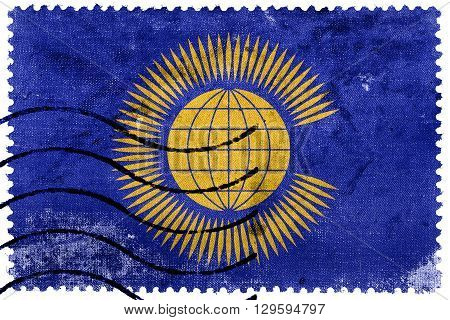 Flag Of The Commonwealth Of Nations, Old Postage Stamp