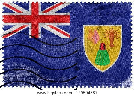 Flag Of Turks And Caicos Islands, Old Postage Stamp