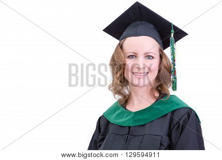 Smiling Attractive Middle-aged Woman Graduate