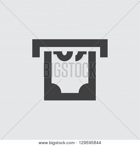 ATM money withdraw icon illustration isolated vector sign symbol