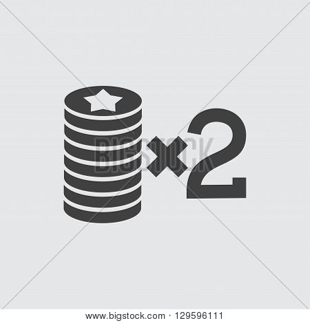 Casino bet icon illustration isolated vector sign symbol