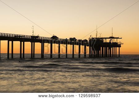 Scripps Pier during sunset in La Jolla, San Diego, California