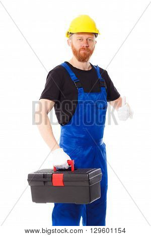 Man Builder In The Uniform, Isolated