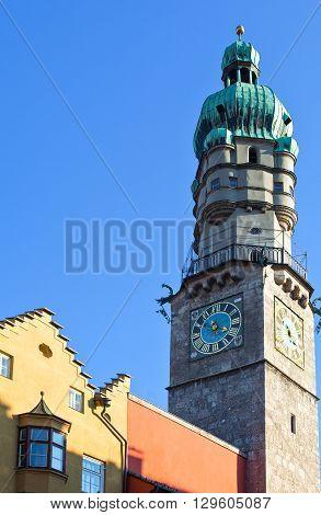 Austria Tyrol Innsbruck the Town Hall tower