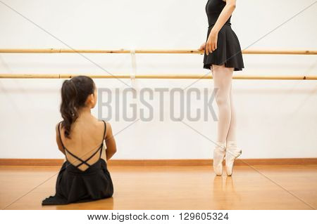Dance Instructor Showing Some Ballet Moves
