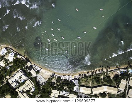 Top View of Praia do Forte beach, Bahia, Brazil