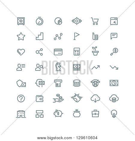 Business management, strategy, career vector line icons set. Business icon, management icon, development career icon, business growth, business organization, business marketing illustration