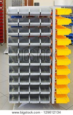 Storage Organizer Cart Shelf With Plastic Bins