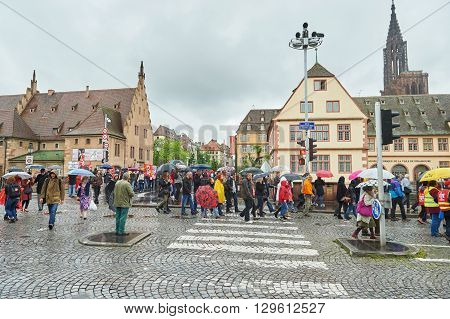 Strasbourg Transportation Paralyzed During Protest
