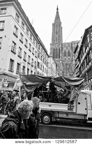 Strasbourg Transportation Paralyzed During Protest