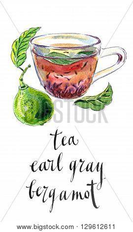 Cup of Earl Grey tea with bergamot