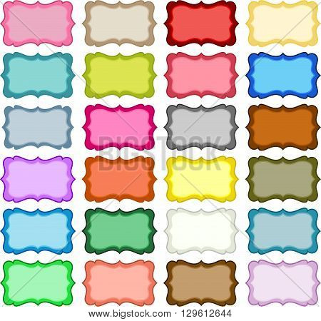 Scalable vectorial image representing a colorful Hang Tags, isolated on white.