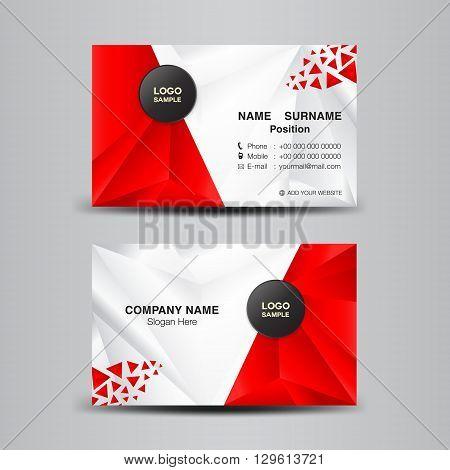 business card template vector illustrationgreen polygon background flyer design name card template vector illustration