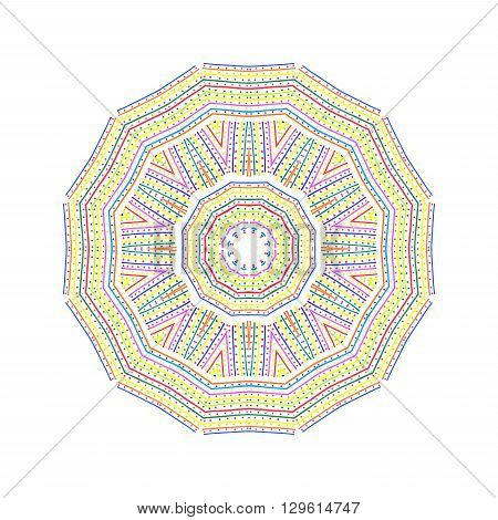 Abstract colorful pattern shape on white background for design