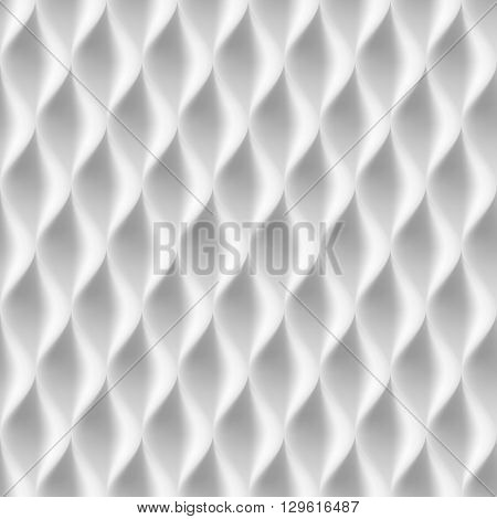 Vertical Wavy Seamless Pattern. White Color Background