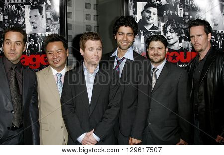 Jeremy Piven, Rex Lee, Kevin Connolly, Adrian Grenier, Jerry Ferrara and Kevin Dillon at the season 3 premiere of HBO's 'Entourage' held at the Cinerama Dome in Hollywood, USA on April 5, 2007.