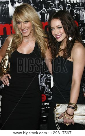 Haylie Duff and Hillary Duff at the season 3 premiere of HBO's 'Entourage' held at the Cinerama Dome in Hollywood, USA on April 5, 2007.