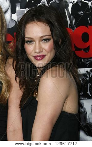 Hilary Duff at the season 3 premiere of HBO's 'Entourage' held at the Cinerama Dome in Hollywood, USA on April 5, 2007.