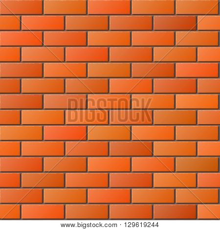 Orange Brick Wall Seamless Pattern for Continuous Replicate