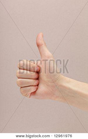 human hand showing sign of okay