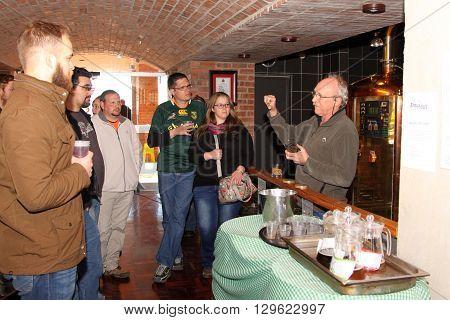 Manager Walter Stallmann Explaining Process To Tour Group.